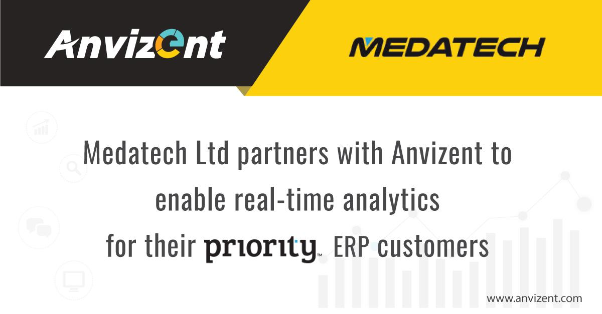 Medatech, UK Partners with Anvizent to Enable Real-Time Analytics for Their Priority Customers